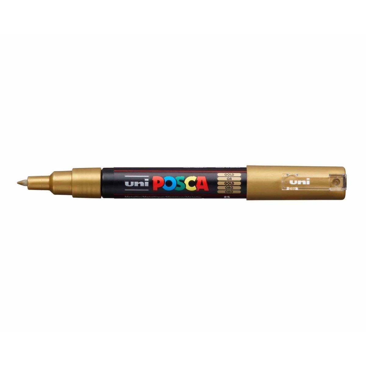 Uni Posca Marker Pen 0.7mm Bullet Tip PC-1M Gold