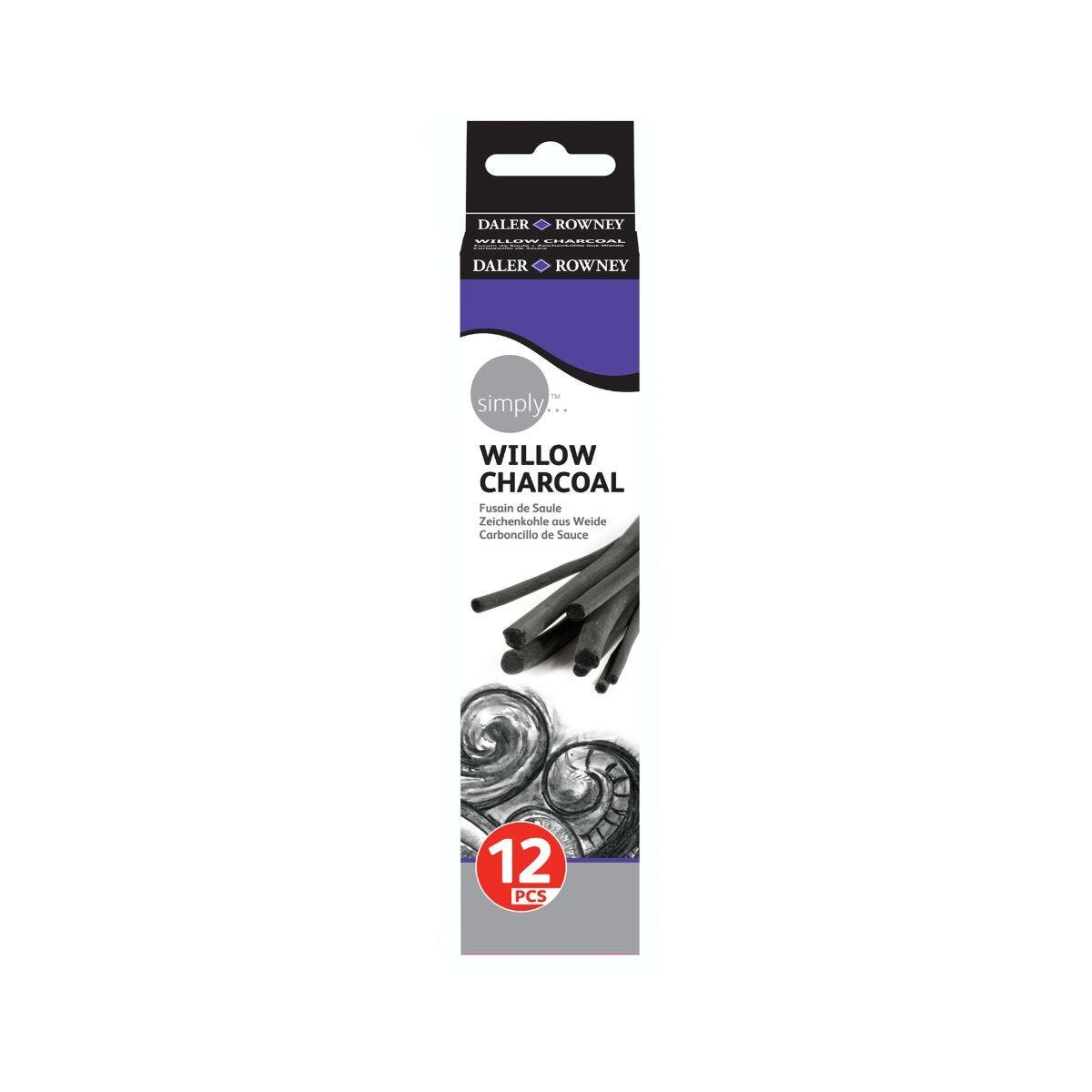 Daler Rowney Simply Charcoal Sticks Pack 12