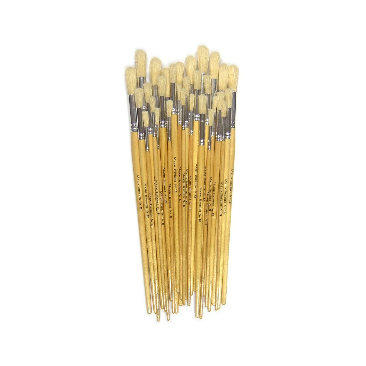 Long Handle Hog Brushes Pack of 30