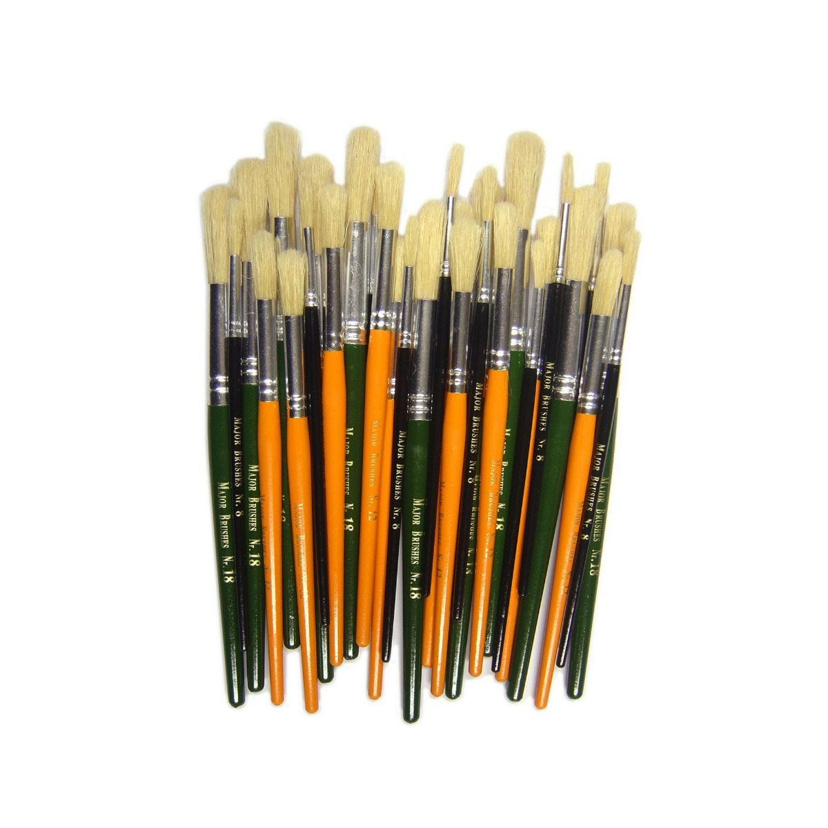 White Synthetic Sable Brush Assorted Pack 30