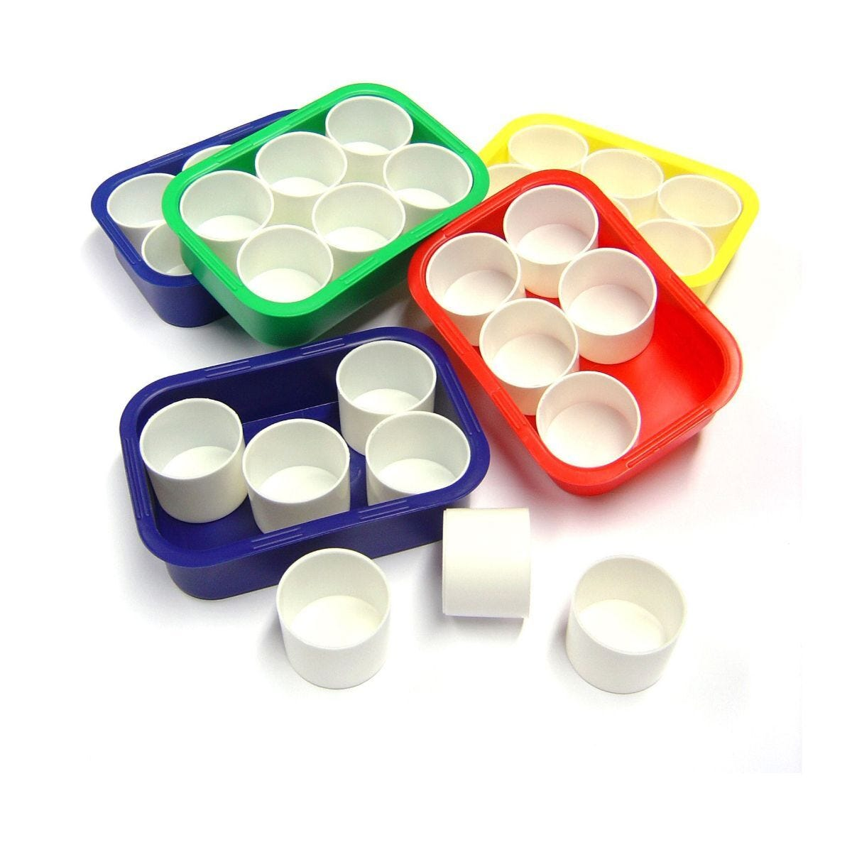 Plastic Tray and 6 Pots