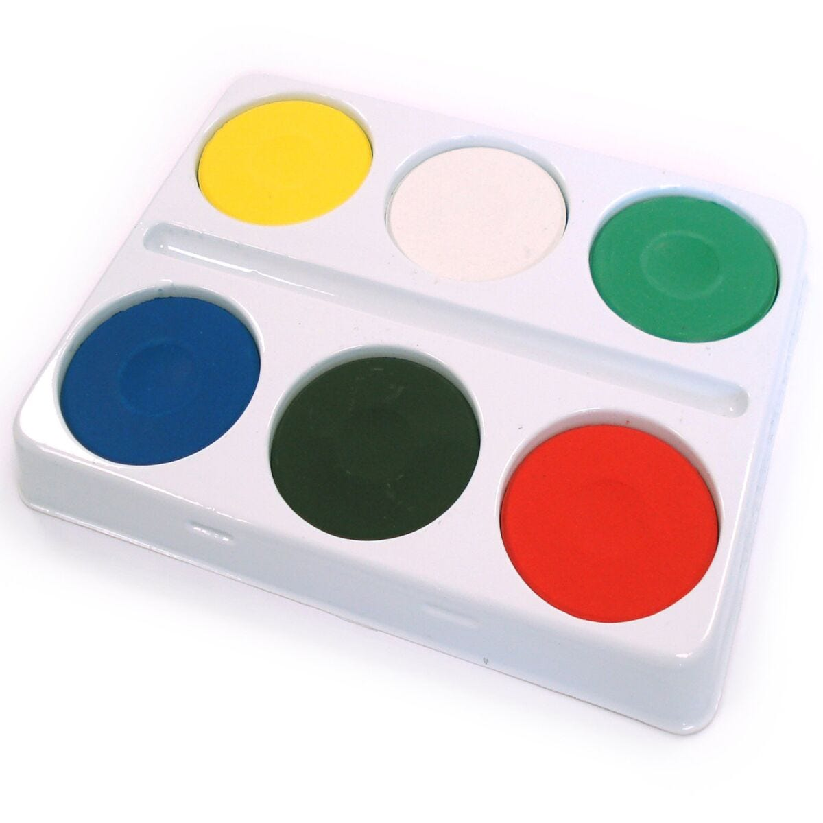 6 Well Large Palette With Watercolours