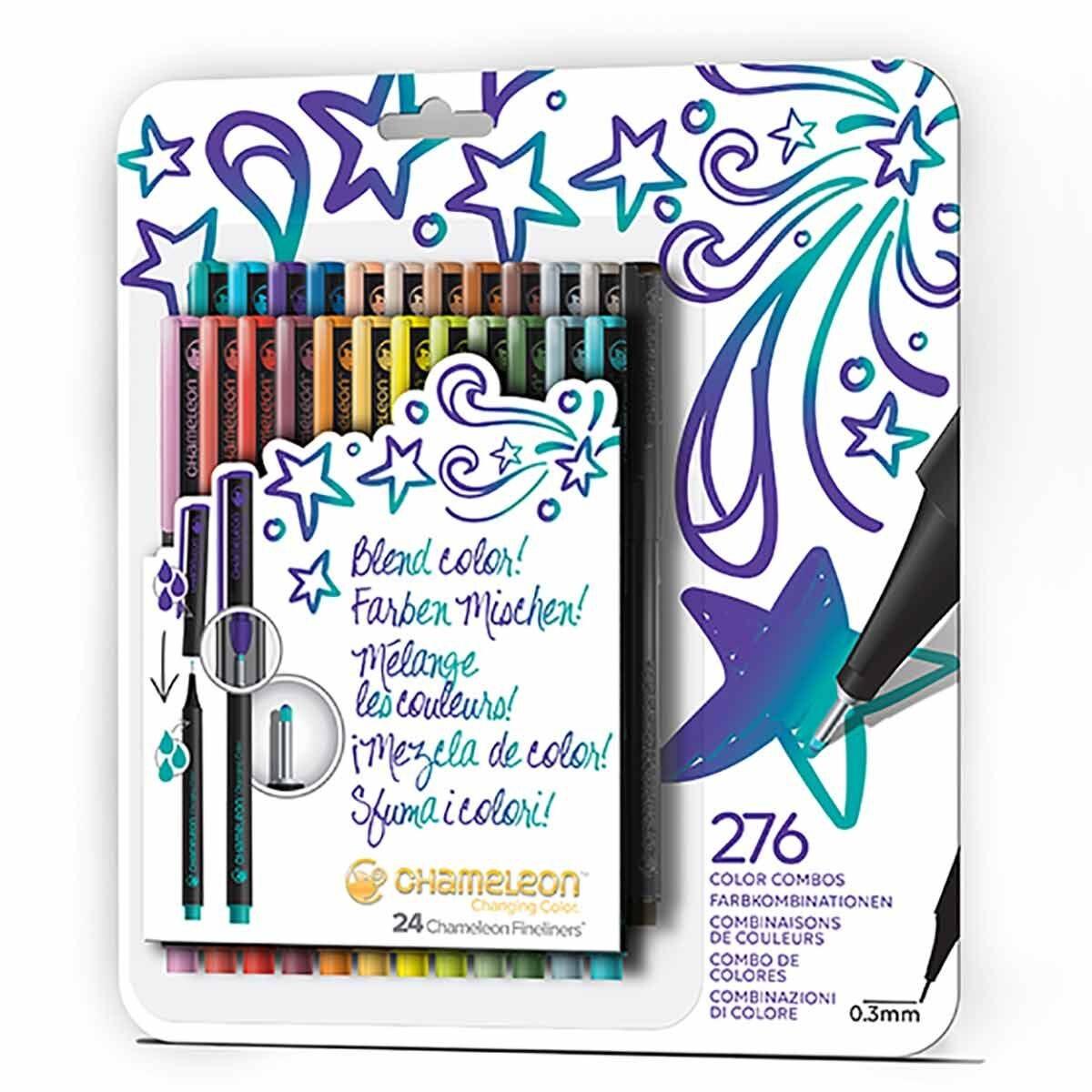 Chameleon Fineliners Bold Colours Set of 24