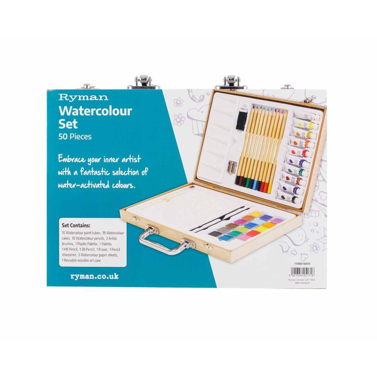 Ryman Watercolour Art Set 50 Piece