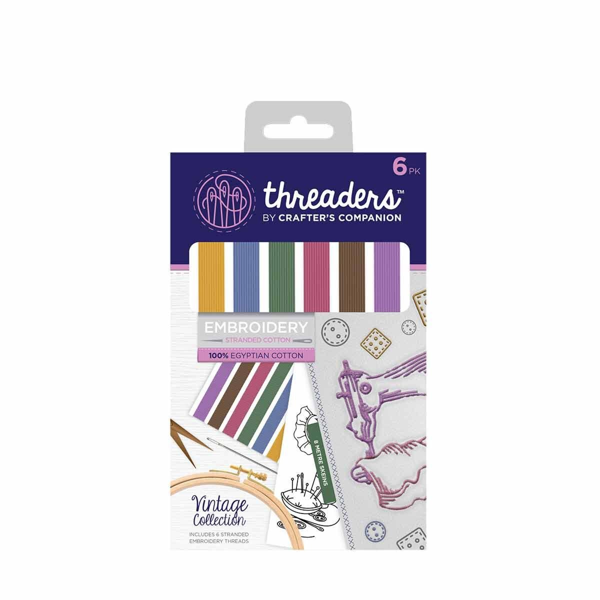 Crafters Companion Threaders Stranded Embroidery Cotton Vintage
