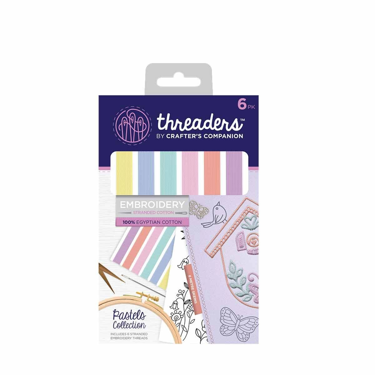 Crafters Companion Threaders Stranded Embroidery Cotton Pastels