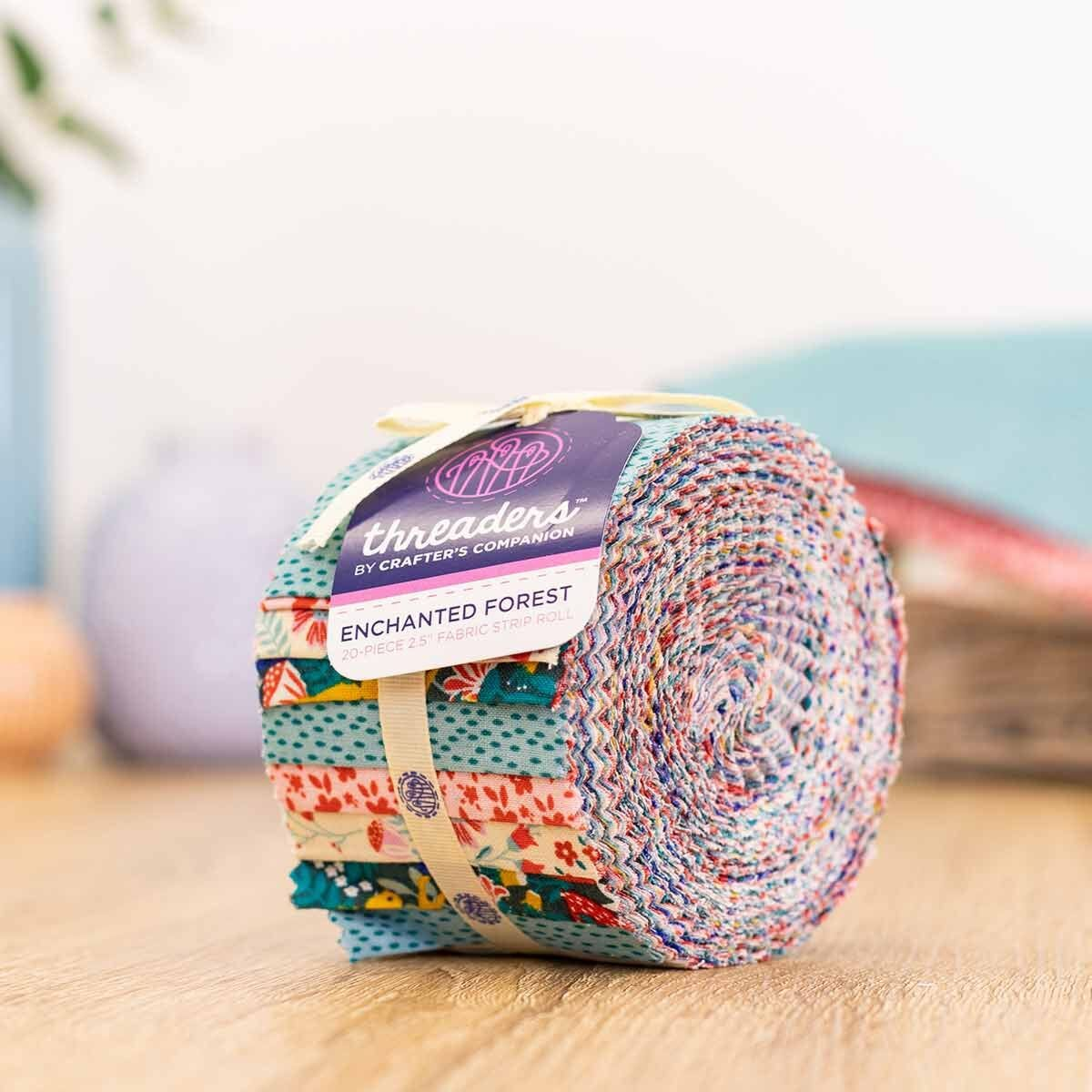 Crafters Companion Enchanted Forest 20 Piece Fabric Strip Roll