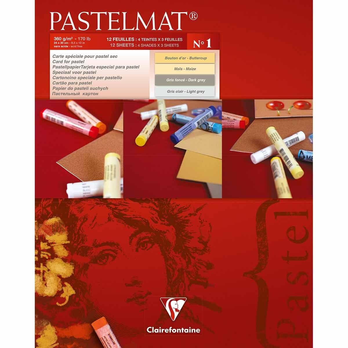 Clairefontaine Pastelmat Pad No 1 24x30cm
