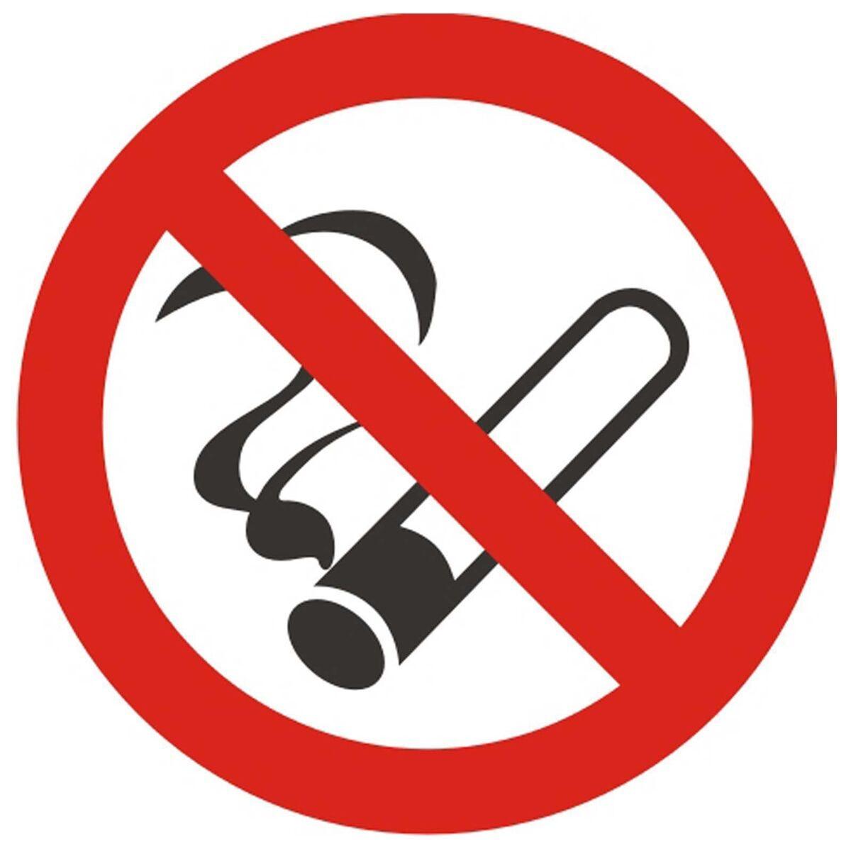 No Smoking Vehicle Sign 90mm Diameter