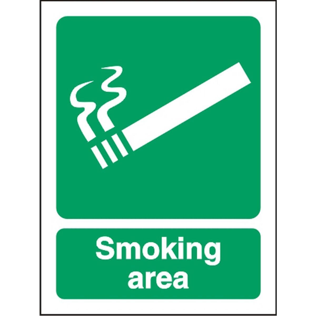 Smoking Area Outdoor Sign  300x400mm