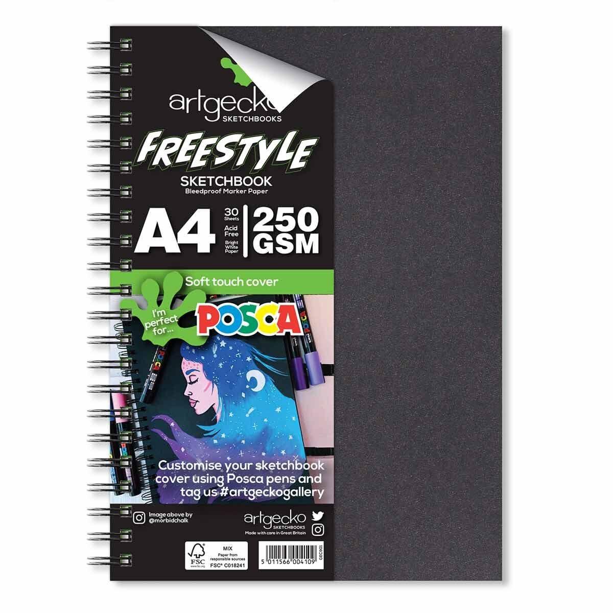 Artgecko Freestyle Sketchbook A4 250gsm