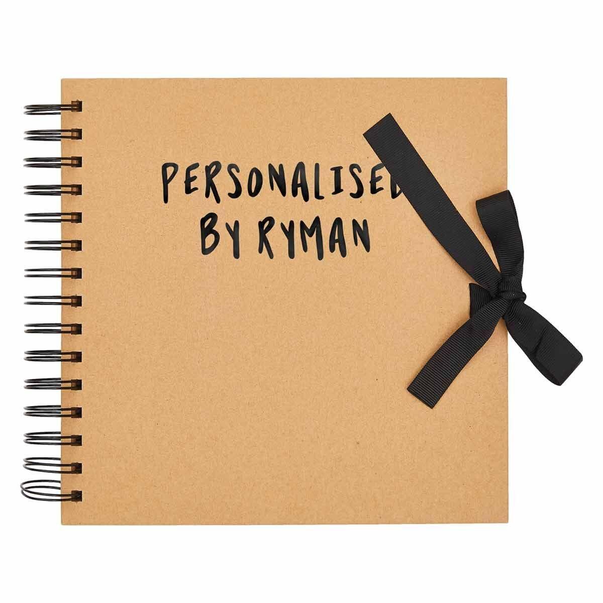 Personalised Scrapbook 8x8 Black Foil Kraft