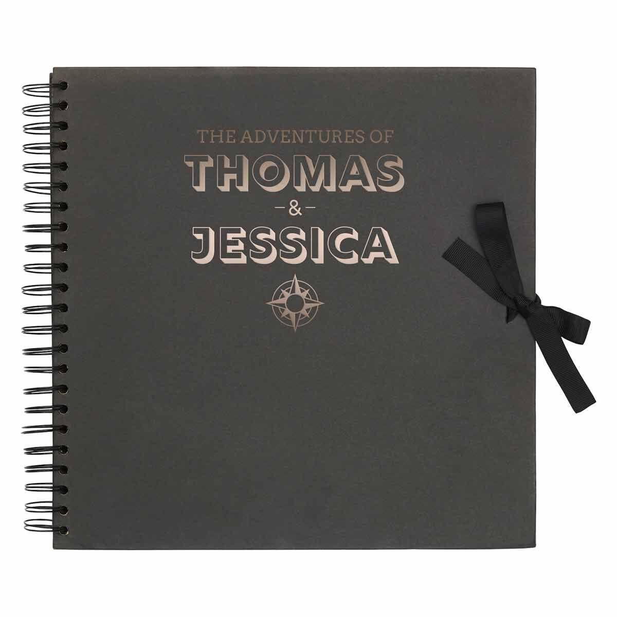 Personalised Scrapbook 12x12 Travel Black Copper