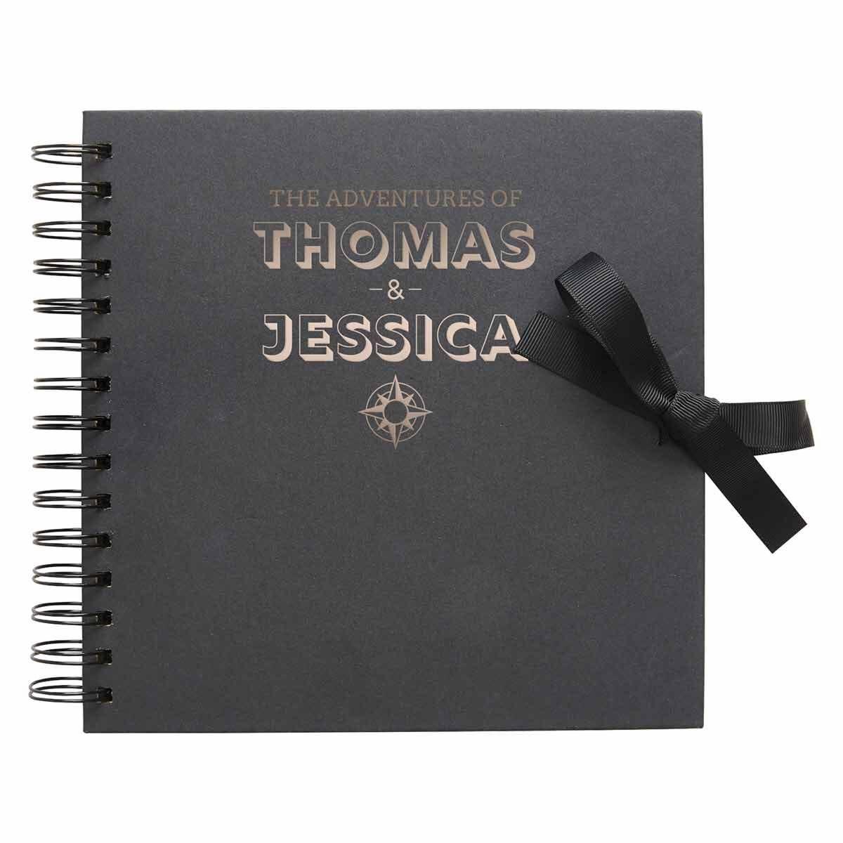 Personalised Scrapbook 8x8 Travel Black Copper