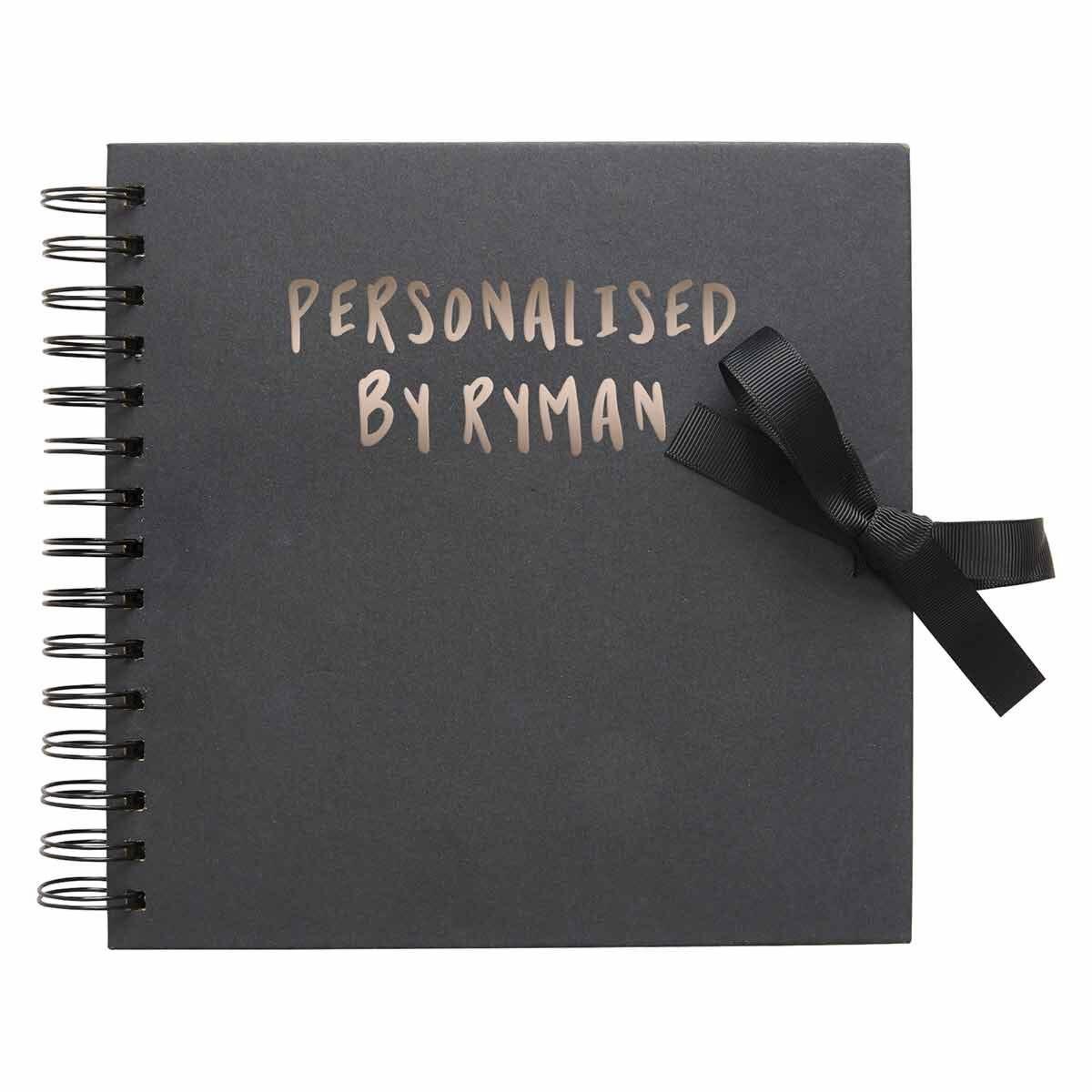 Personalised Scrapbook 8x8 Black Copper