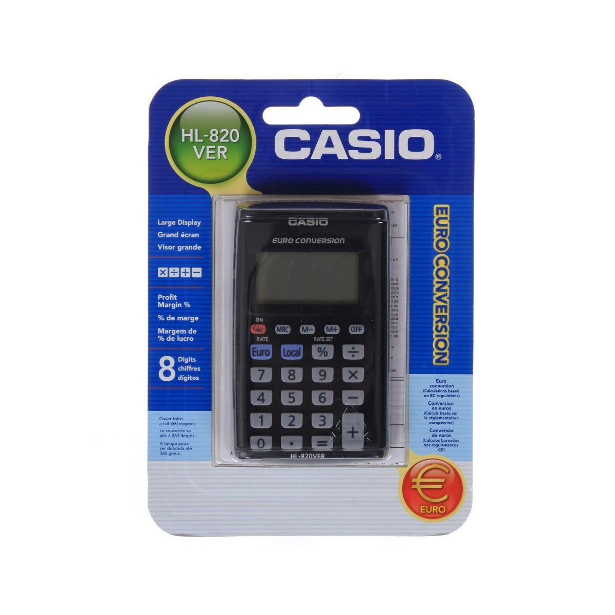 Casio Pocket Calculator HL-820VER