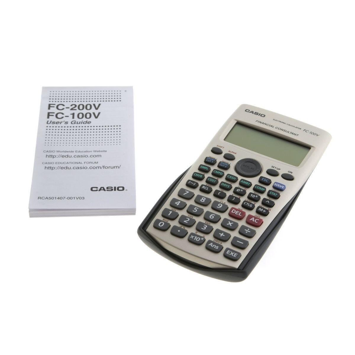 Casio FC-100V Financial Handheld Calculator
