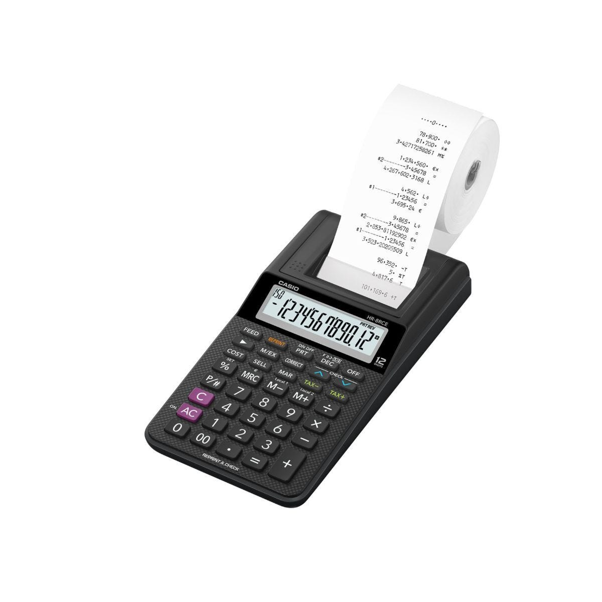 Casio HR-8RCE Portable 12 Digit Printing Calculator