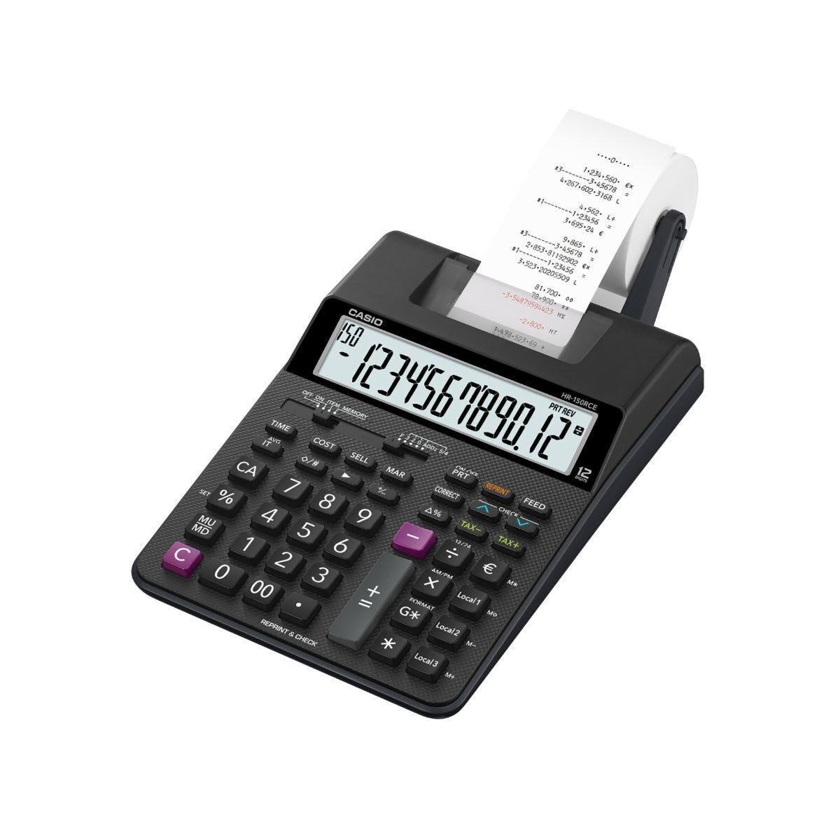 Casio HR-150RCE 12 Digit Printing Calculator