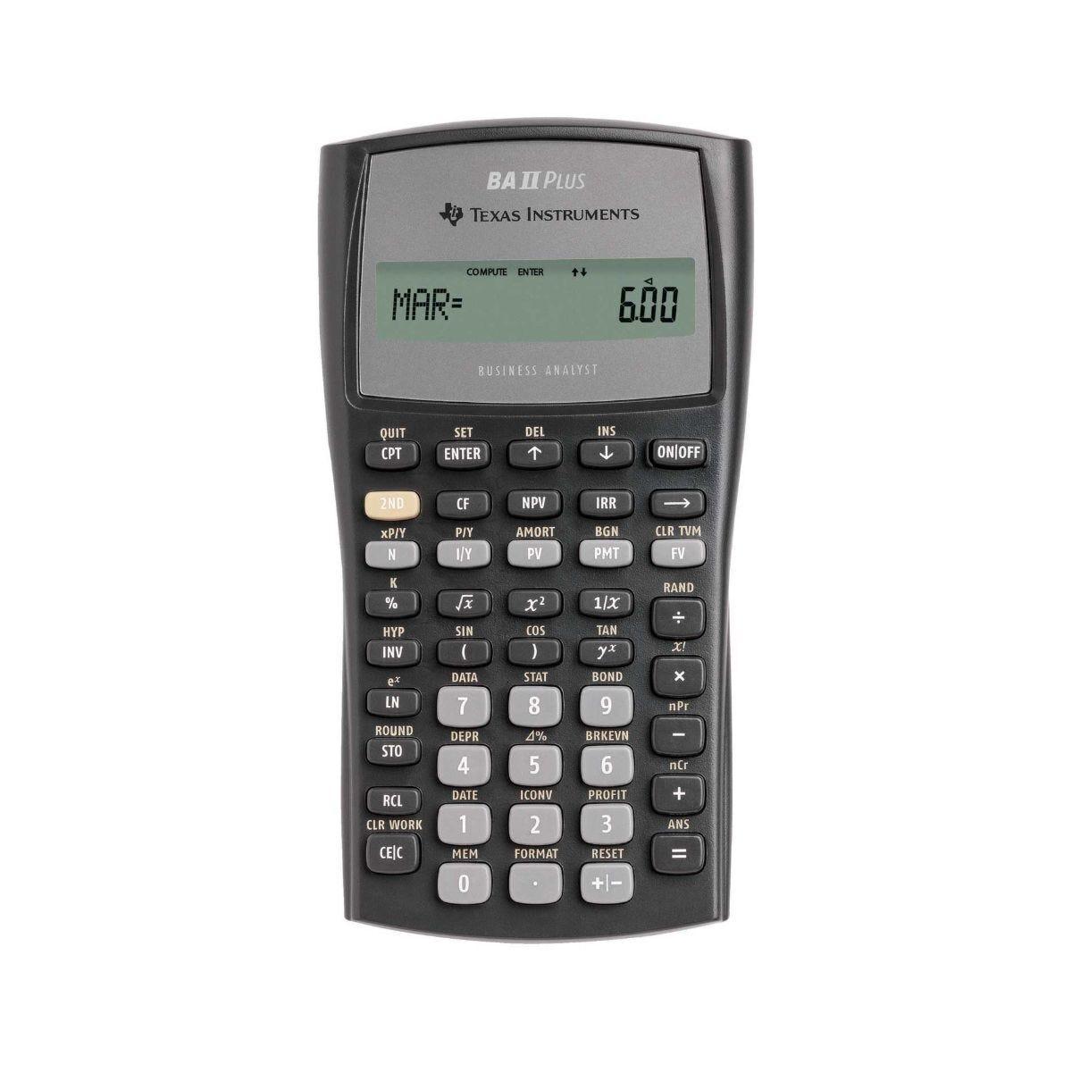 Texas Instruments Financial Calculator