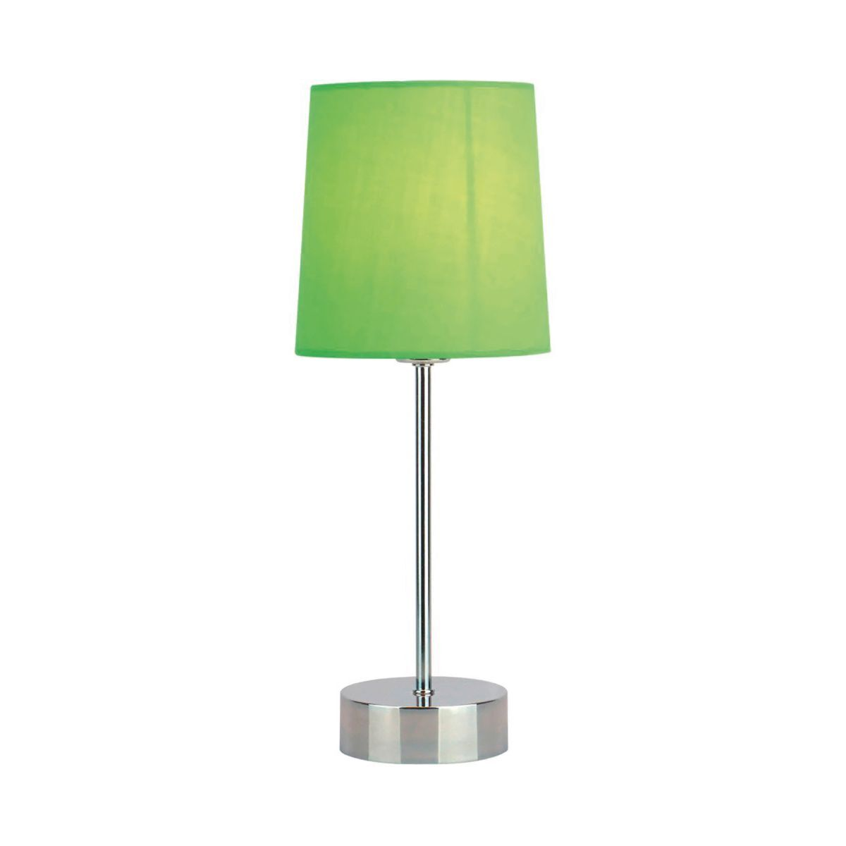 Quebec Chrome Stick Touch Table Lamp Shade Green Shade