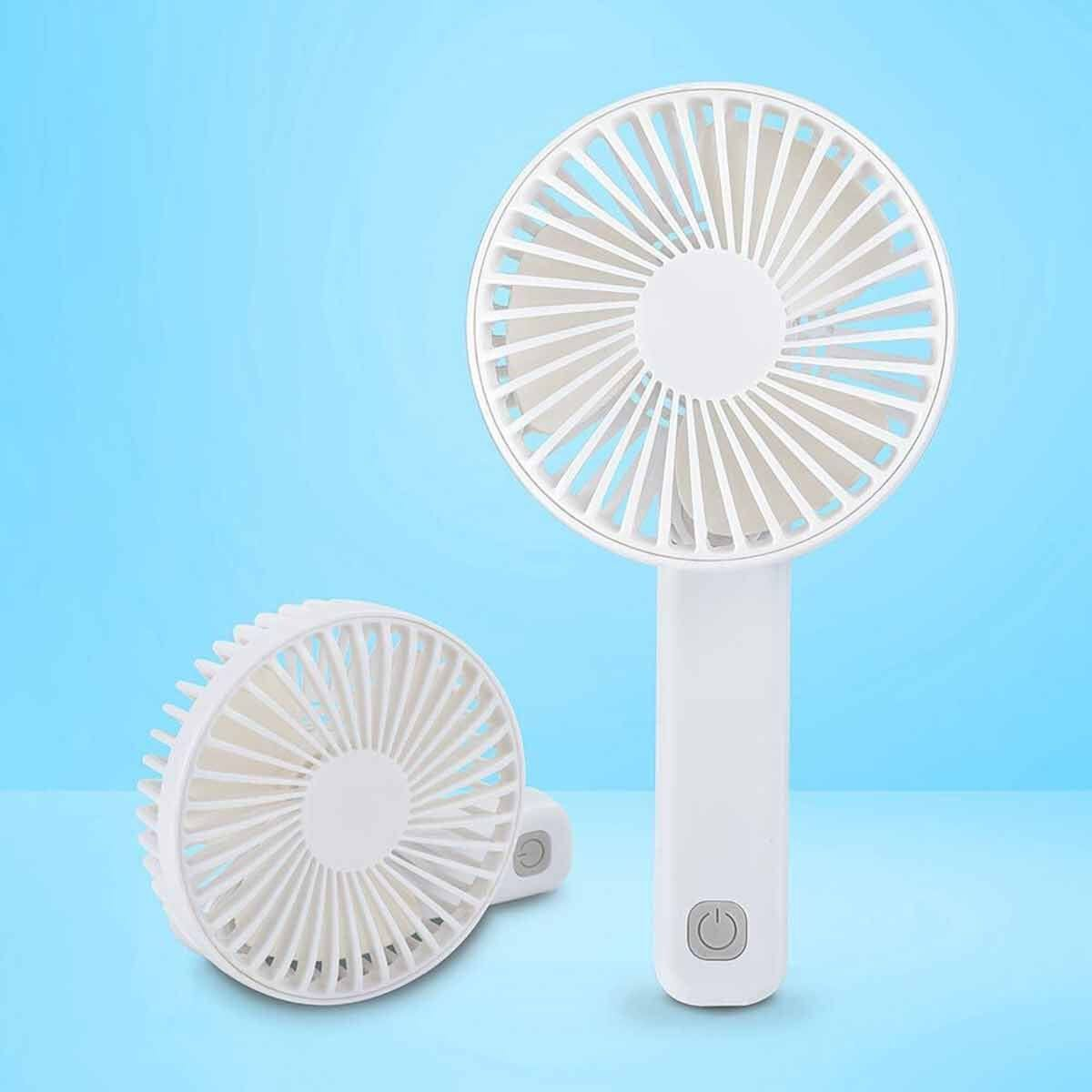 BCool Hand Held Rechargeable Fan White
