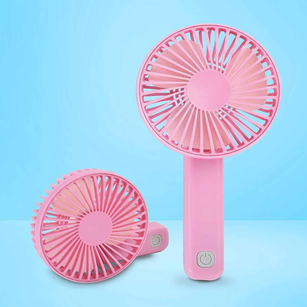 BCool Hand Held Rechargeable Fan Peach