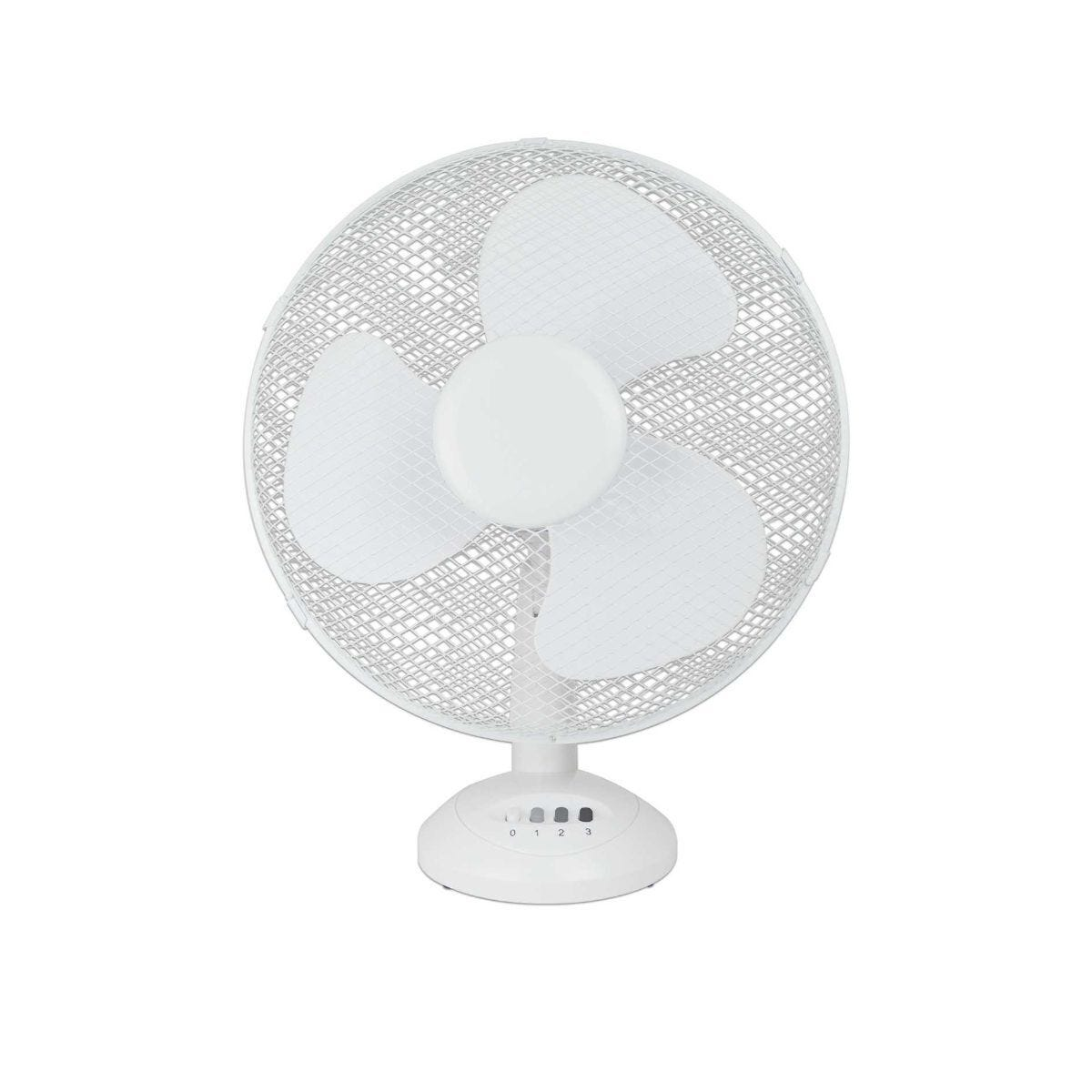 Status 12 Inch White Desk Fan with 3 Speed Setting