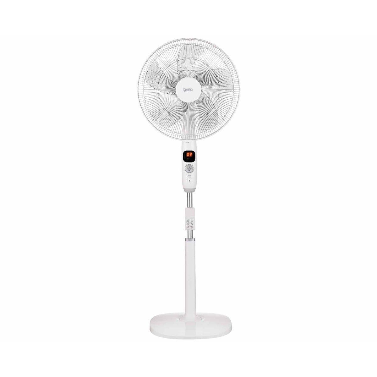 Igenix 16 inch Digital Pedestal Floor Fan with DC Motor