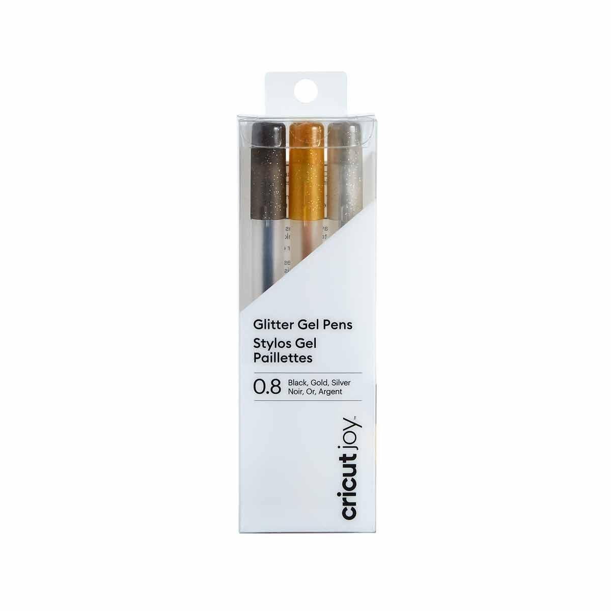 Cricut Joy Glitter Gel Pen Set Black/Gold/Silver
