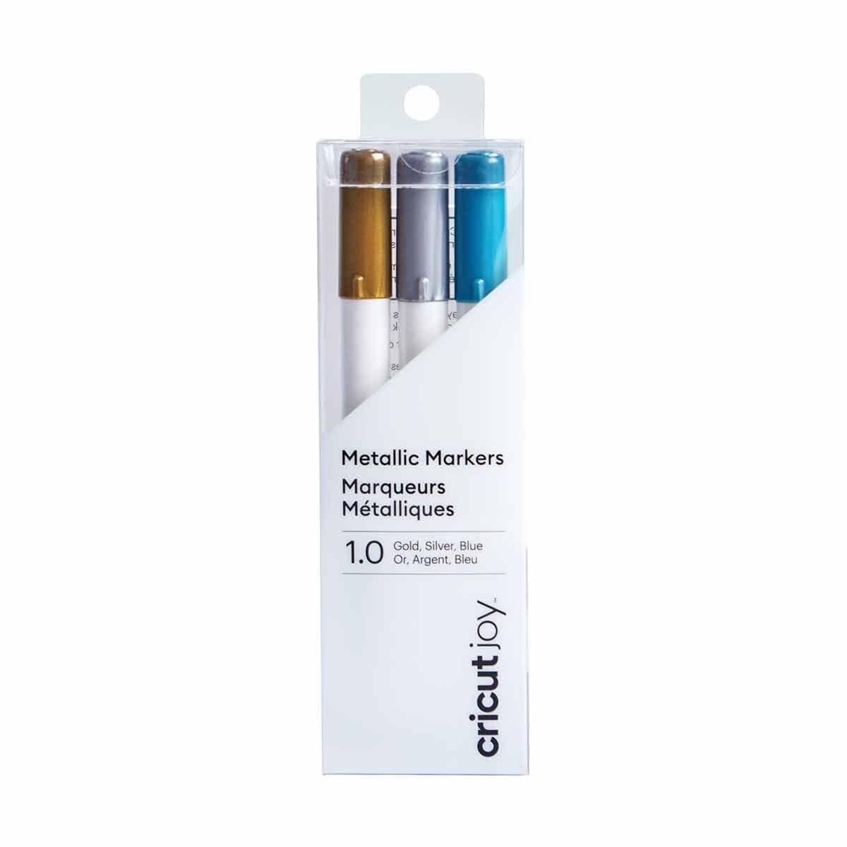 Cricut Joy Medium Point Metallic Markers Gold/Silver/Blue