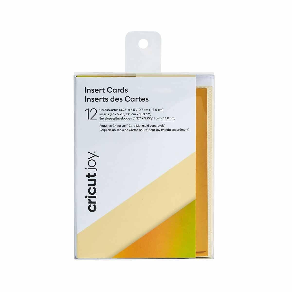 Cricut Joy Insert Cards Pack of 12 Cream/Holographic