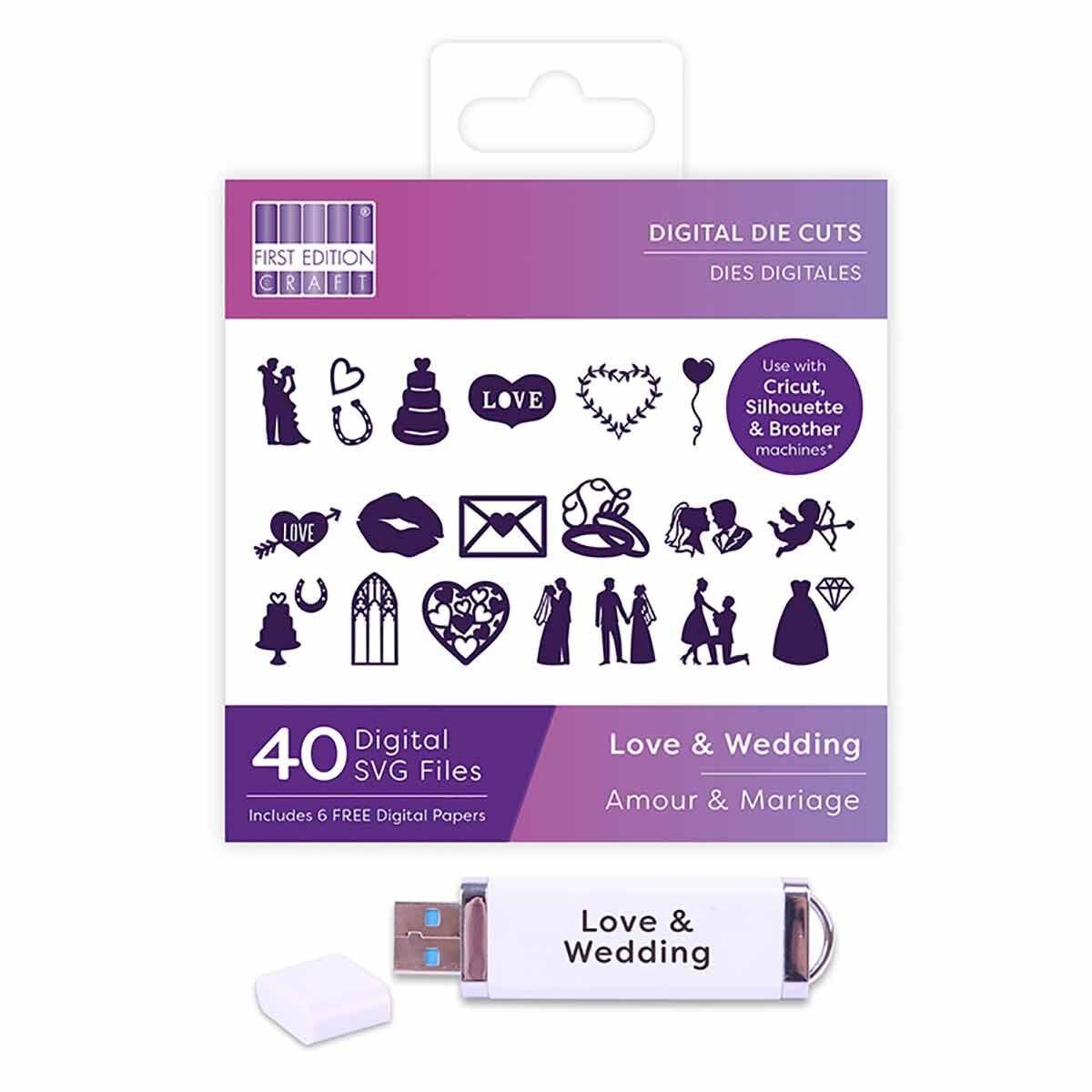 First Edition Digital Die Love and Wedding