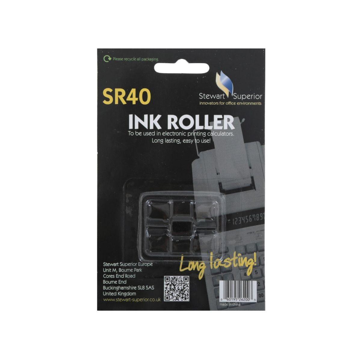 Stewart Superior SR40 Calculator Ink Roller Black