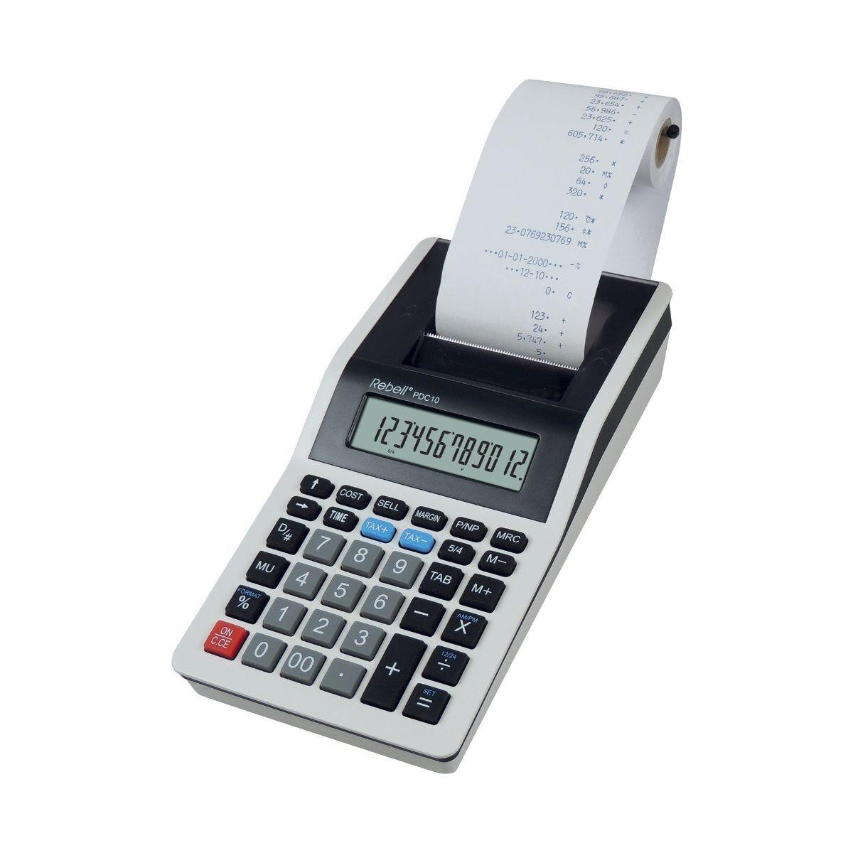Rebell Printing Calculator PDC10