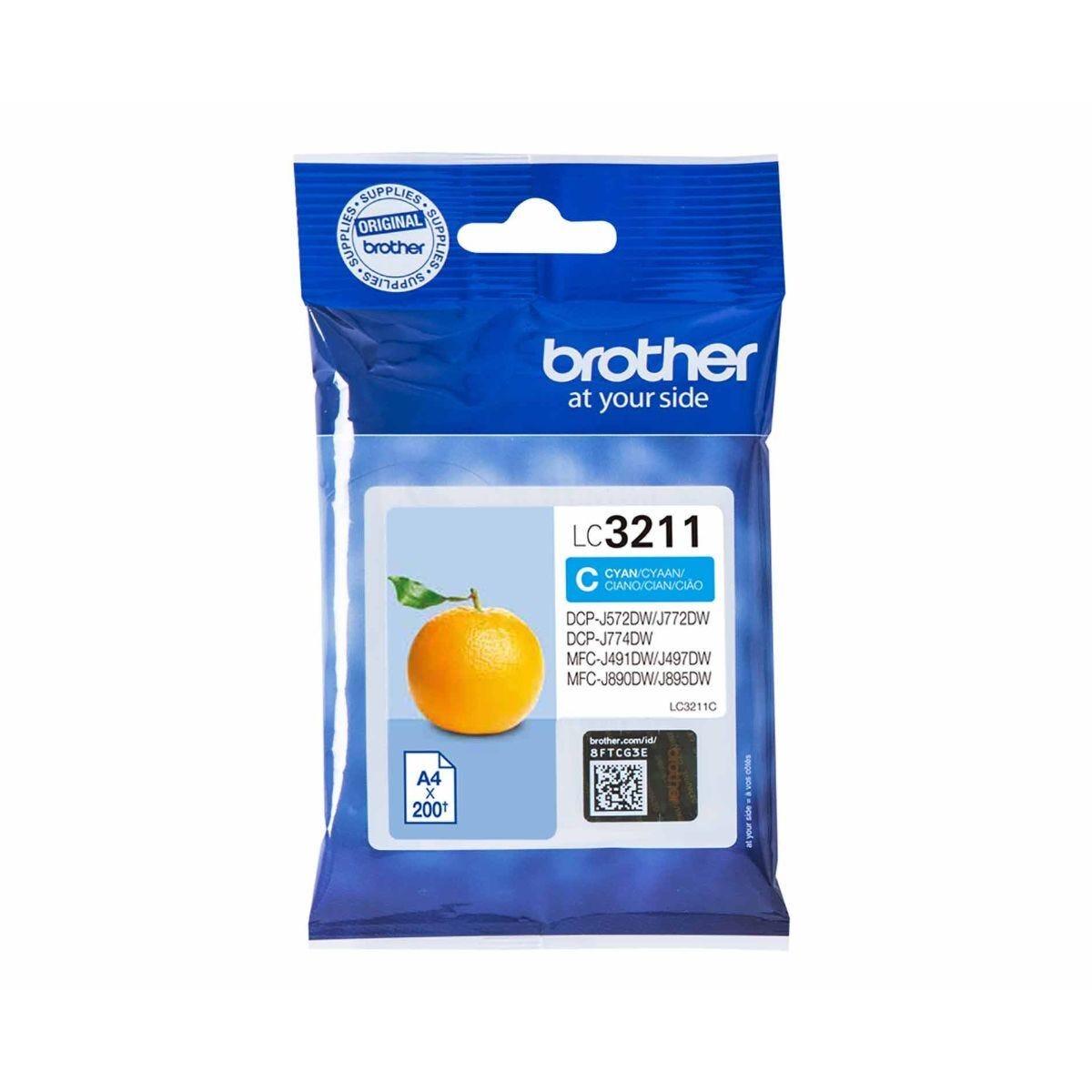 Brother LC3211C Cyan Original Ink Cartridge