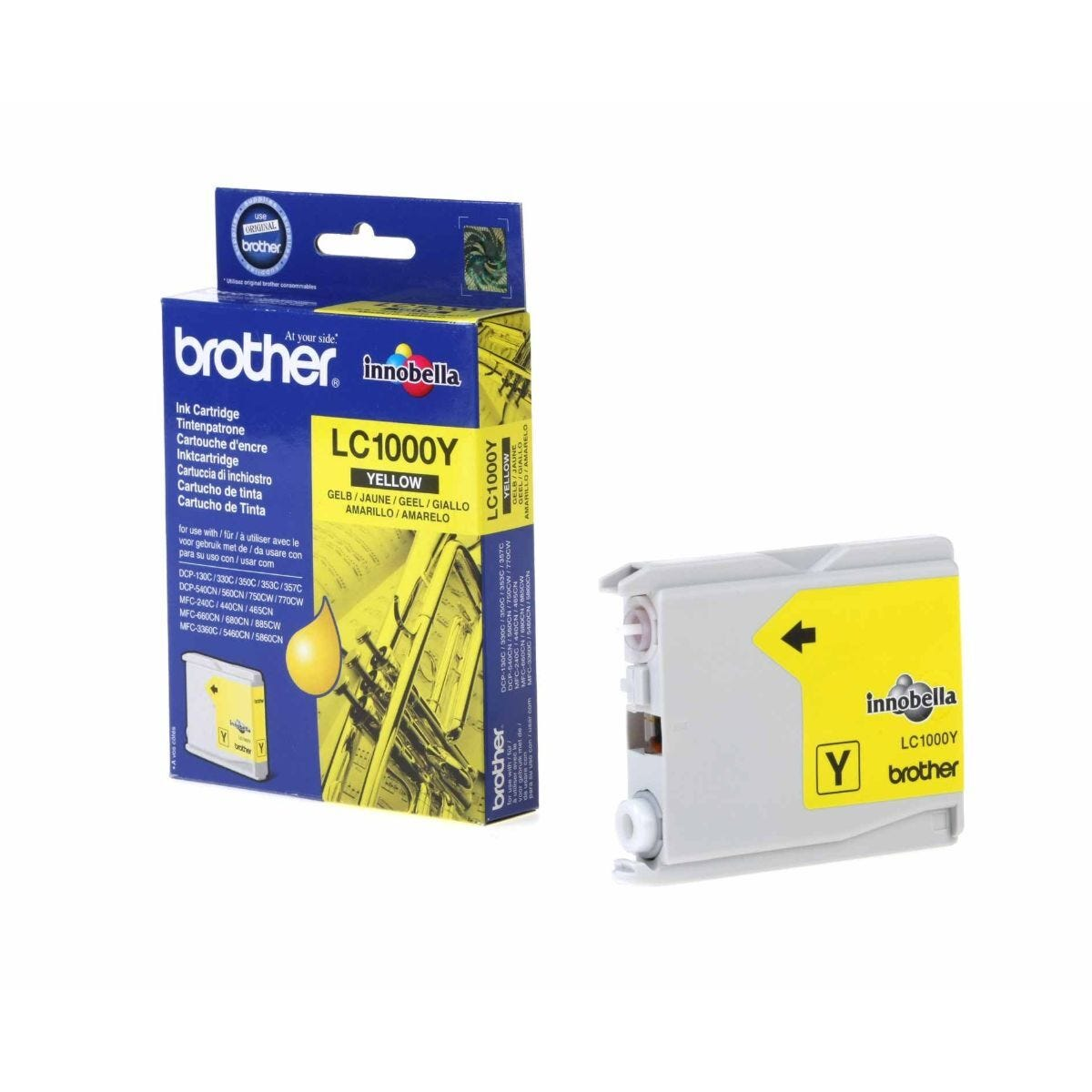 Brother LC1000 Ink Cartridge Yellow