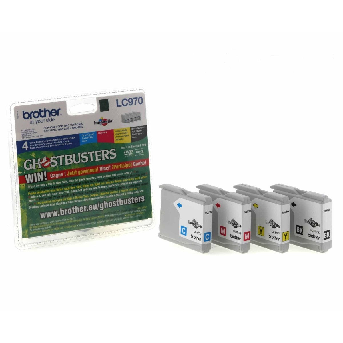 Brother LC970 Ink Cartridge Pack of 4