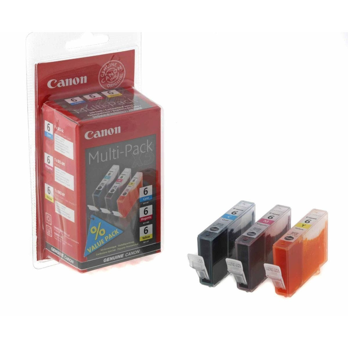 Canon BC-6 Ink Cartridge Pack of 3 13ml