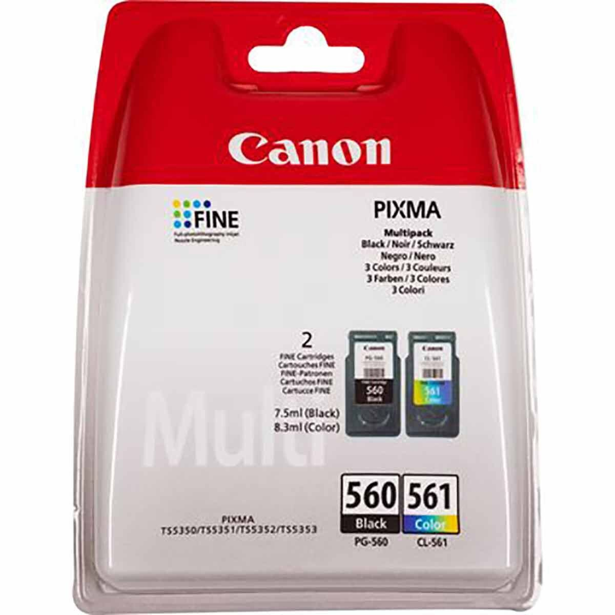 Canon PG-560/CL-561 Black and Colour Original Ink Cartridge Multipack