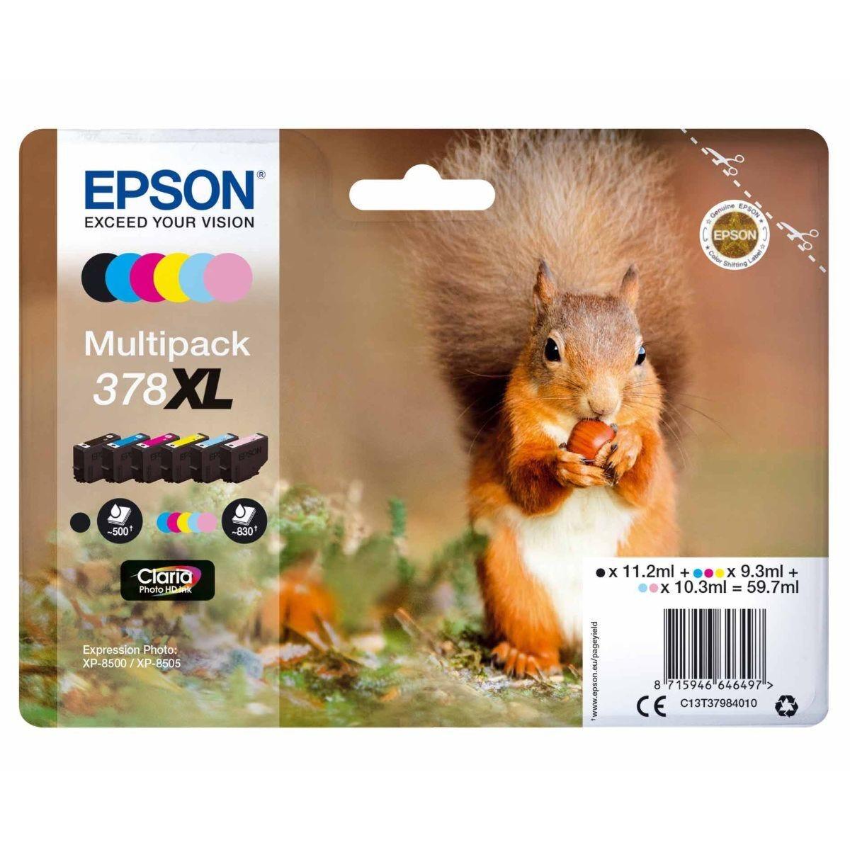 Epson 378XL Squirrel Ink Cartridge Multipack