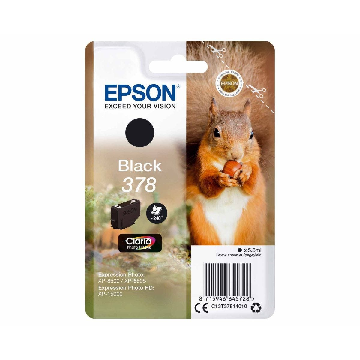 Epson 378 Squirrel Ink Cartridge Black