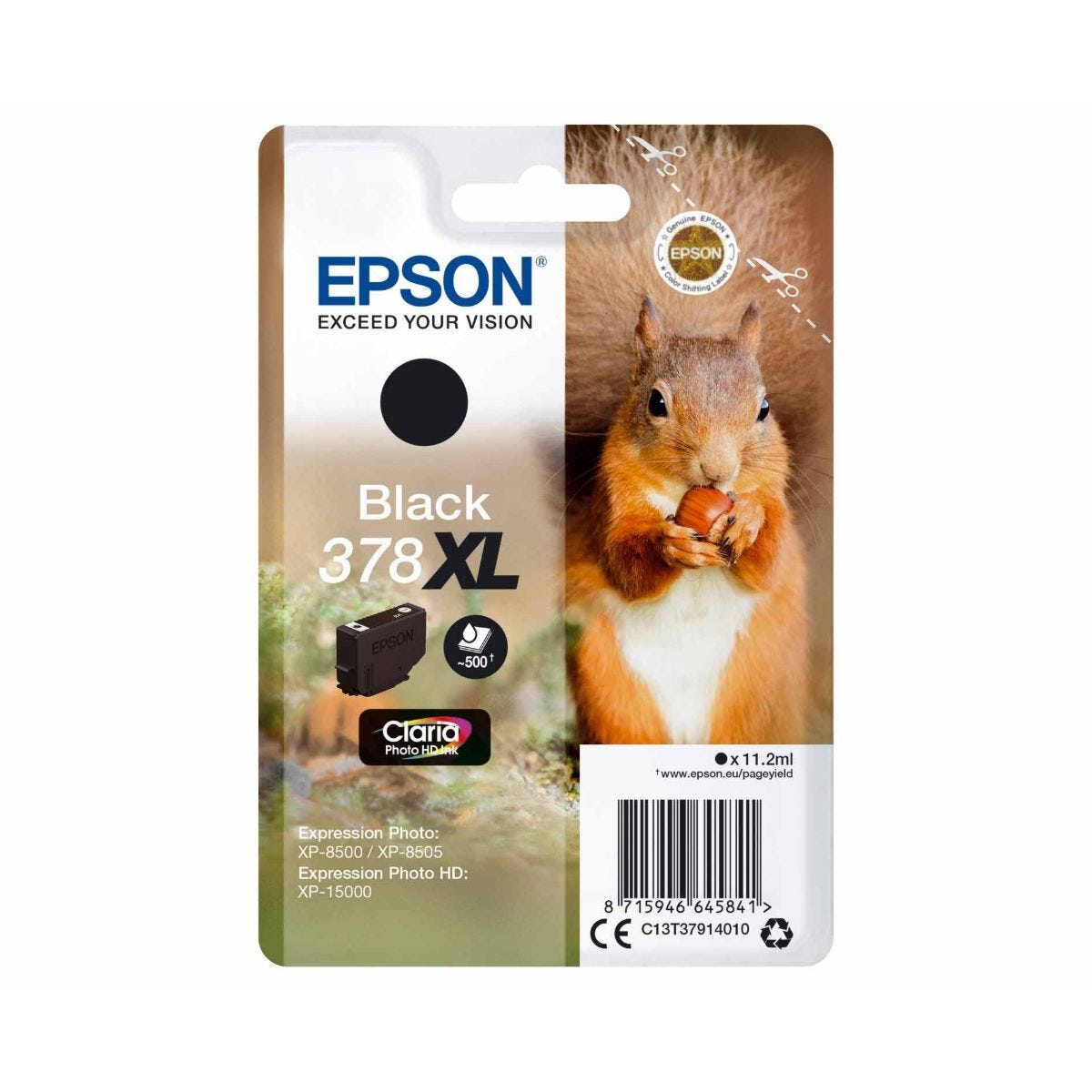 Epson 378XL Squirrel Ink Cartridge Black