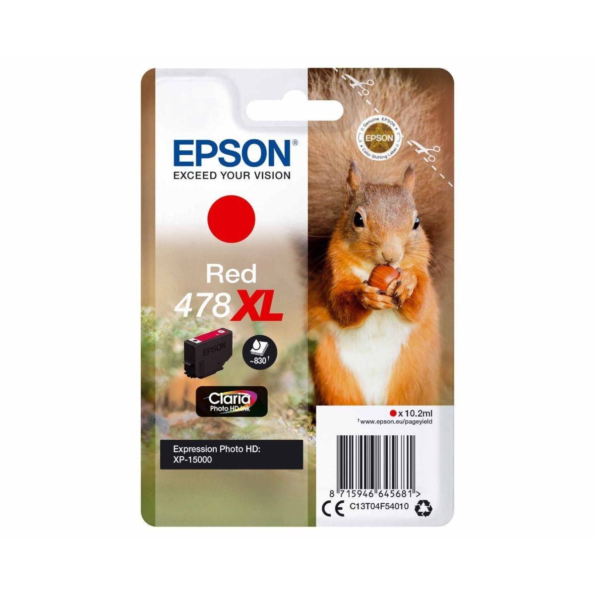 Epson 478XL Red Squirrel Original Ink Cartridge