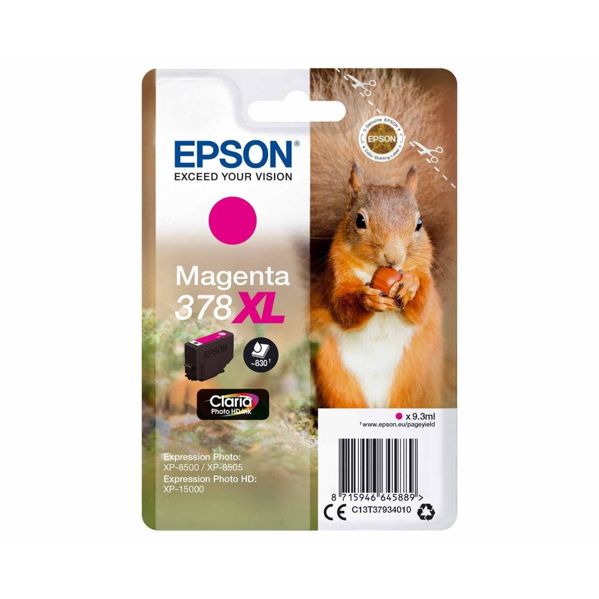 Epson 378XL Magenta Squirrel Original Ink Cartridge