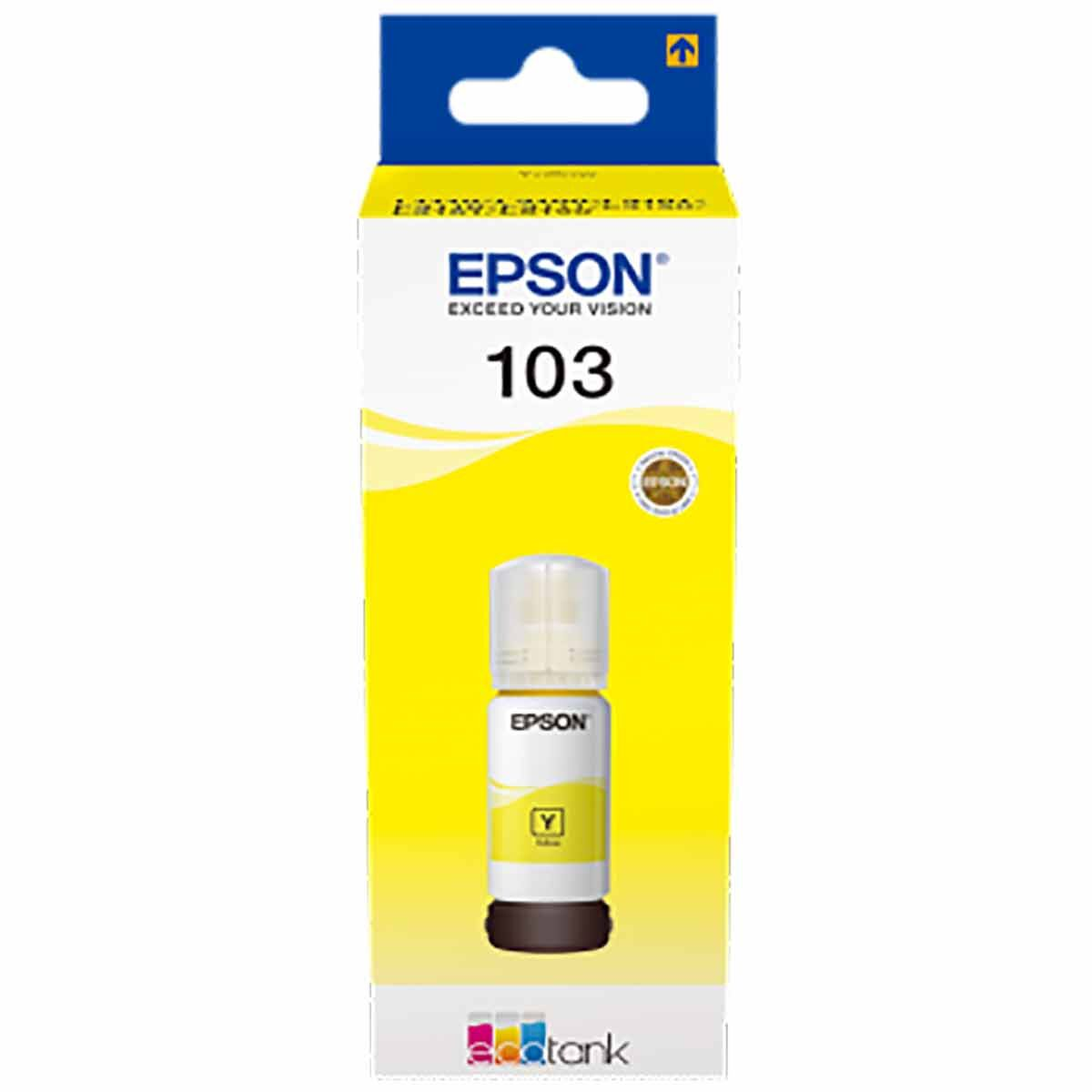 Epson 103 Colour Ink Bottle Yellow