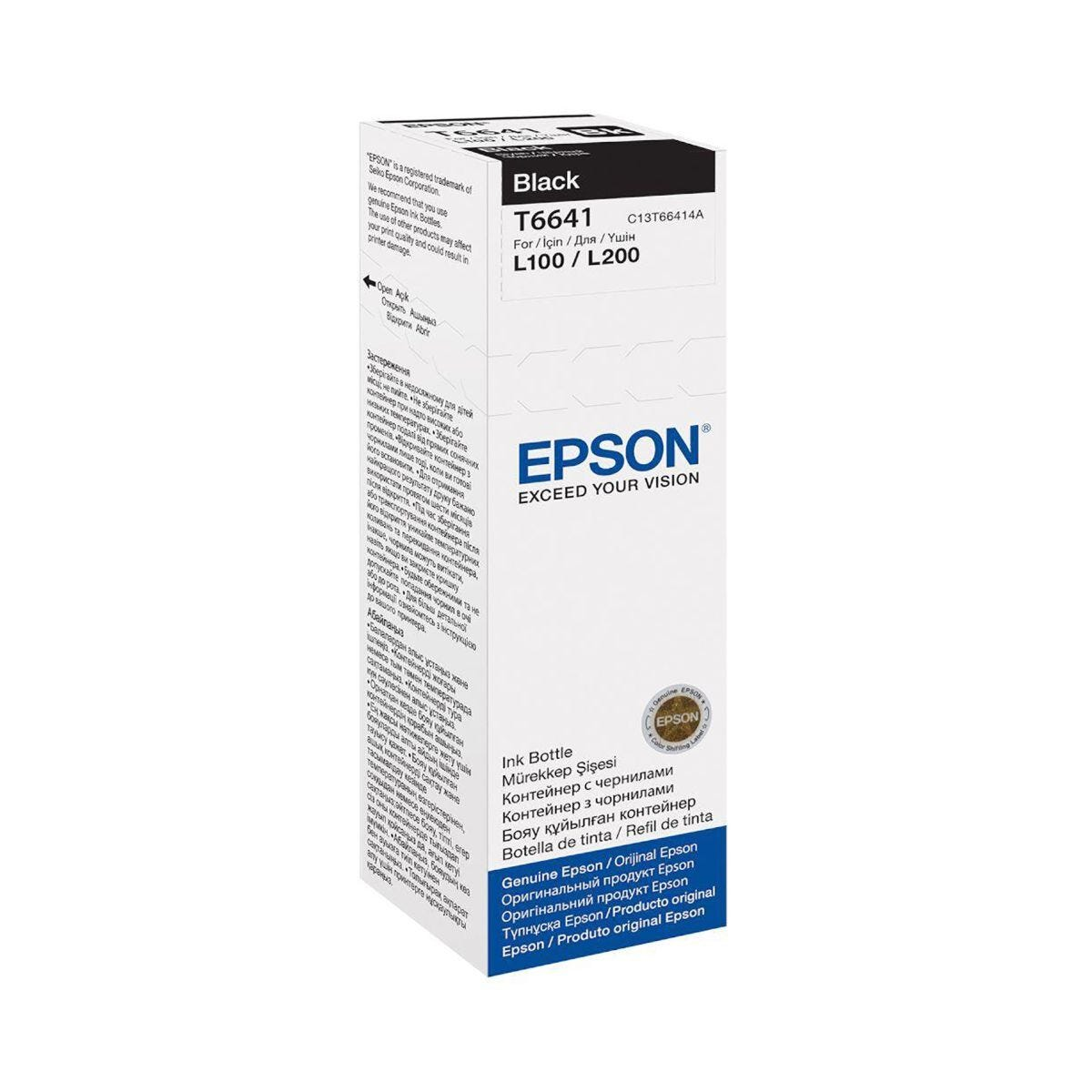 Epson EcoTank Ink Bottle T6641 Black