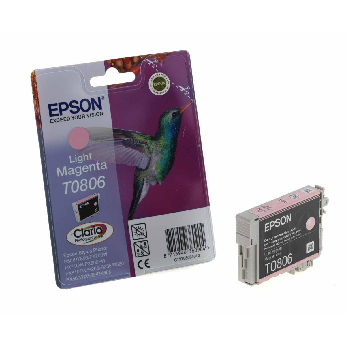 Epson T0806 Ink Cartridge 7.4ml