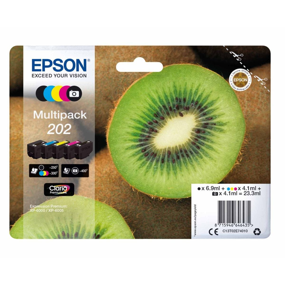 Epson 202 Kiwi Ink Black Multipack