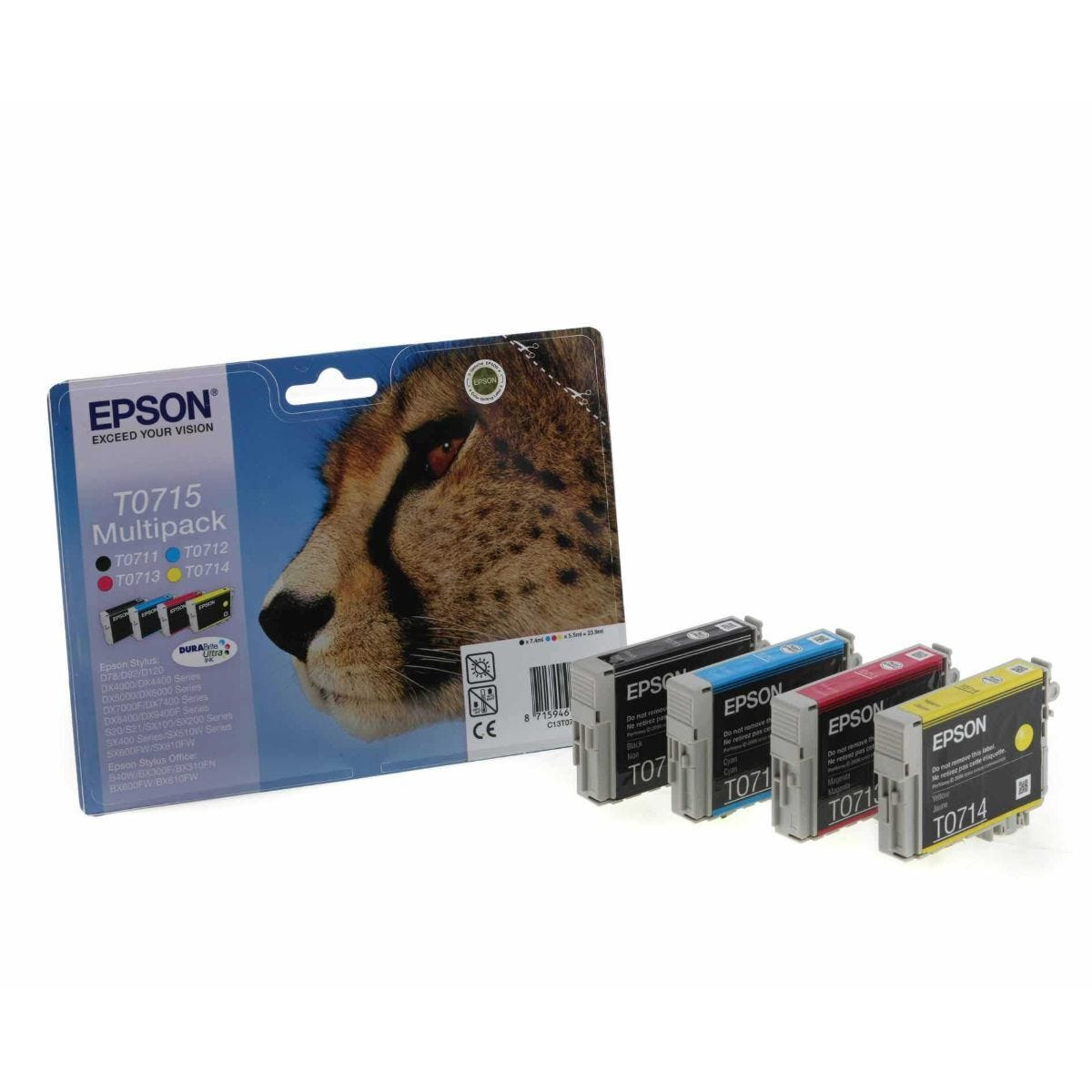 Epson T0715 Ink Cartridge Pack of 4